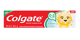 Colgate<sup>®</sup> Kid's Strawberry Toothpaste 0-2yrs