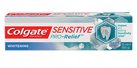 Colgate<sup>®</sup> Sensitive Pro-Relief<sup>®</sup> Whitening