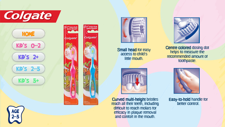 Colgate Kids' Toothbrushes 2-5 years