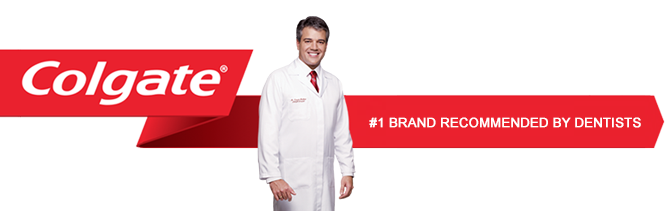 Colgate #1 BRAND RECOMMENDED BY DENTISTS