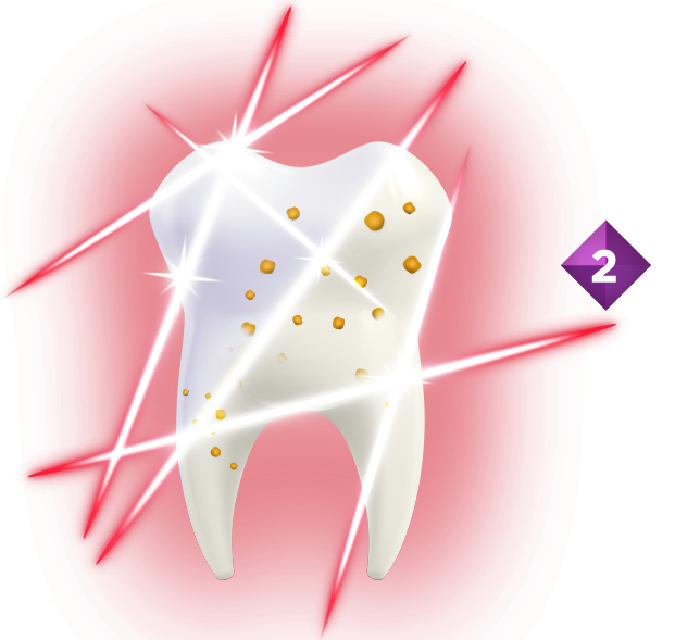 Germs in plaque convert these sugars into sugar acids that can damage tooth enamel, eventually causing cavities.